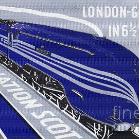 1937 LMS Coronation Scot Poster by R Muirhead Art