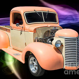 1939 Chevrolet Pickup Antique Car In Color Print Or Canvas Print 3519.02 by M K Miller