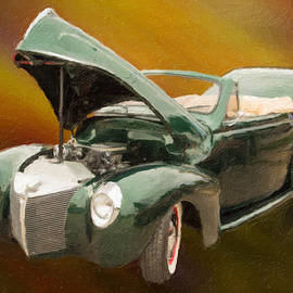 1940 Mercury Convertible Vintage Classic Car Painting 5234.03 by M K Miller