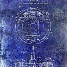 Jon Neidert - 1941 Porsche Brake Mechanism Patent Blue