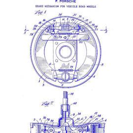 Jon Neidert - 1941 Porsche Brake Mechanism Patent Blueprint