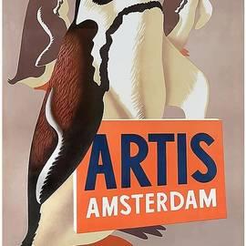 Retro Graphics - 1947 Artis Zoo Amsterdam Penguins Poster