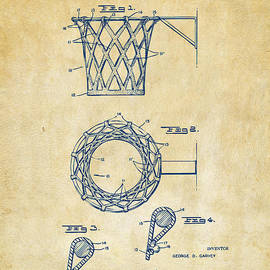 1951 Basketball Net Patent Artwork - Vintage by Nikki Marie Smith