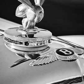 1954 Bentley R-type Hood Ornament -0493bw by Jill Reger