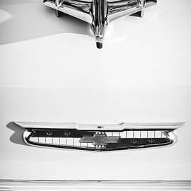 1955 Chevrolet Bel Air Hood Ornament - Emblem -0067bw by Jill Reger