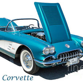 1958 Corvette By Chevrolet On White In A Color Photograph 3496.0 by M K Miller