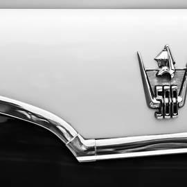 1959 Dodge Custom Royal Super D 500 Emblem -0245bw by Jill Reger