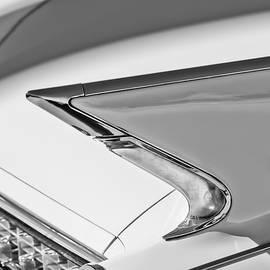 1960 Cadillac Eldorado Biarritz Convertible Tail Light -0918bw by Jill Reger