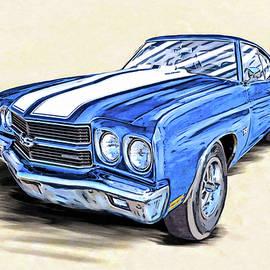 1970 Chevelle Ss Portrait by Mark Tisdale