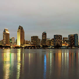 A View of San Diego Bay and Downtown, California, USA by Derrick Neill