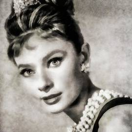 Audrey Hepburn, Vintage Actress by JS - John Springfield