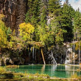 Autumn At Hanging Lake Waterfall - Glenwood Canyon Colorado by Brian Harig