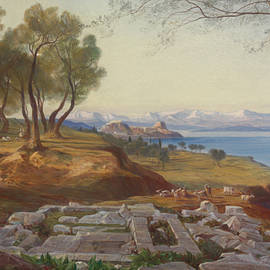 Edward Lear - Corfu from Ascension