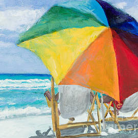 Beach Umbrella by Marilyn Nolan-Johnson by Marilyn Nolan-Johnson
