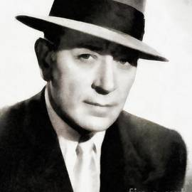 George Raft, Vintage Actor by JS - John Springfield