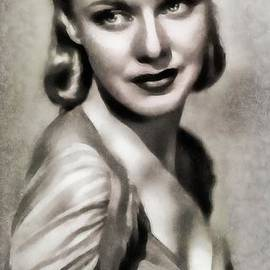 Ginger Rogers, Vintage Actress and Dancer by JS - John Springfield