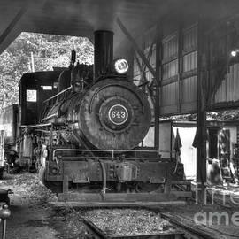 In the engine shed steaming up by Paul W Faust - Impressions of Light