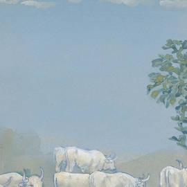 Arthur Bowen Davies - Landscape with Cows