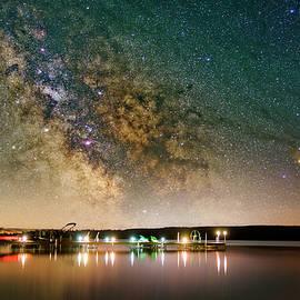 Milky Way over Lake Margrethe by Dustin Goodspeed