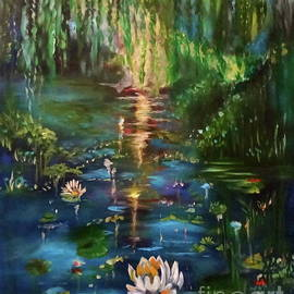 Monet's Pond Jenny Lee Discount by Jenny Lee