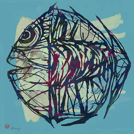 Kim Wang - New Pop Art Tropical - Fish Poster