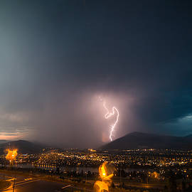 Storm Over Kamloops 3 by Patti Deters