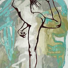 Kim Wang - Nude - Pop Art Etching Poster