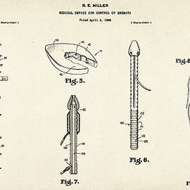 Jose Elias - Sofia Pereira - Patent Drawing for the 1966 Medical Device for Control of Enemata by R. E. Miller