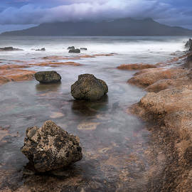 Rocky Beach in the Morning, Isle of Eigg, Scotland, United Kingd by Andrey Omelyanchuk