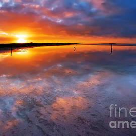 Bill  Robinson - Salt Pan Sunrise