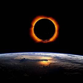 Adam Asar - Solar Eclipse from above the earth