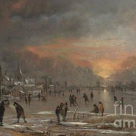 Aert van der Neer - Sports on a Frozen River
