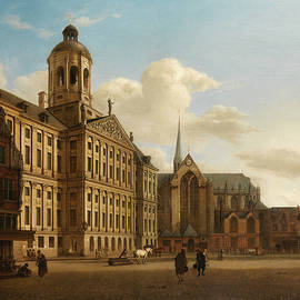 Jan van der Heyden - The Huis ten Bosch at The Hague and Its Formal Garden