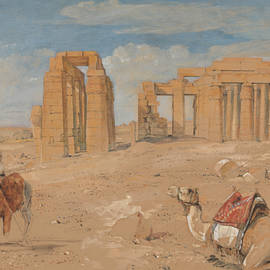 The Ramesseum at Thebes - John Frederick Lewis