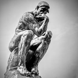 The Thinker Auguste Rodin 1840 -1917 The thinker -The Poet. at Rodin museum In Monochrome. by Cyril Jayant