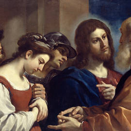The Woman Taken in Adultery - Guercino