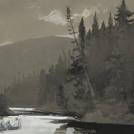 Winslow Homer - Three Men In A Canoe