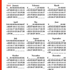 2018 Calendar Annual  by Delynn Addams