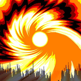 Irmgard Schoendorf Welch -  205 - Poster Climate Change  2 ... Burning Summer  Sun