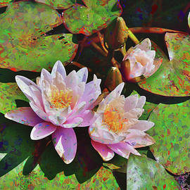 22 Water Lilies Impressionism by Linda Brody