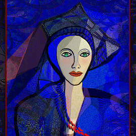 Irmgard Schoendorf Welch - 2322 - Lady in blue  2017