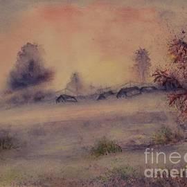 24.    Morning mist in the winter village by Olga Malamud-Pavlovich