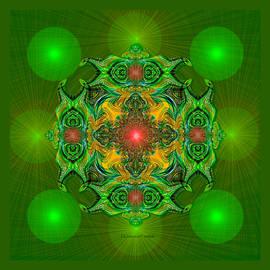 2433   dark green Mandala AA by Irmgard Schoendorf Welch