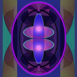 Irmgard Schoendorf Welch - 2460  Mandala purple and pink A