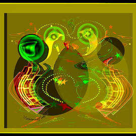 2654 Golden abstract 2018 by Irmgard Schoendorf Welch