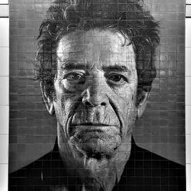 2nd Ave Subway Art Lou Reed B W by Rob Hans