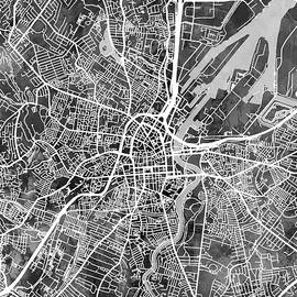 Michael Tompsett - Belfast Northern Ireland City Map