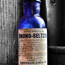 Bromo Seltzer Vintage Glass Bottles Collection by Marianna Mills