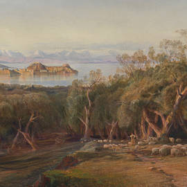 Corfu from Ascension - Edward Lear