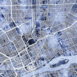Michael Tompsett - Detroit Michigan City Map